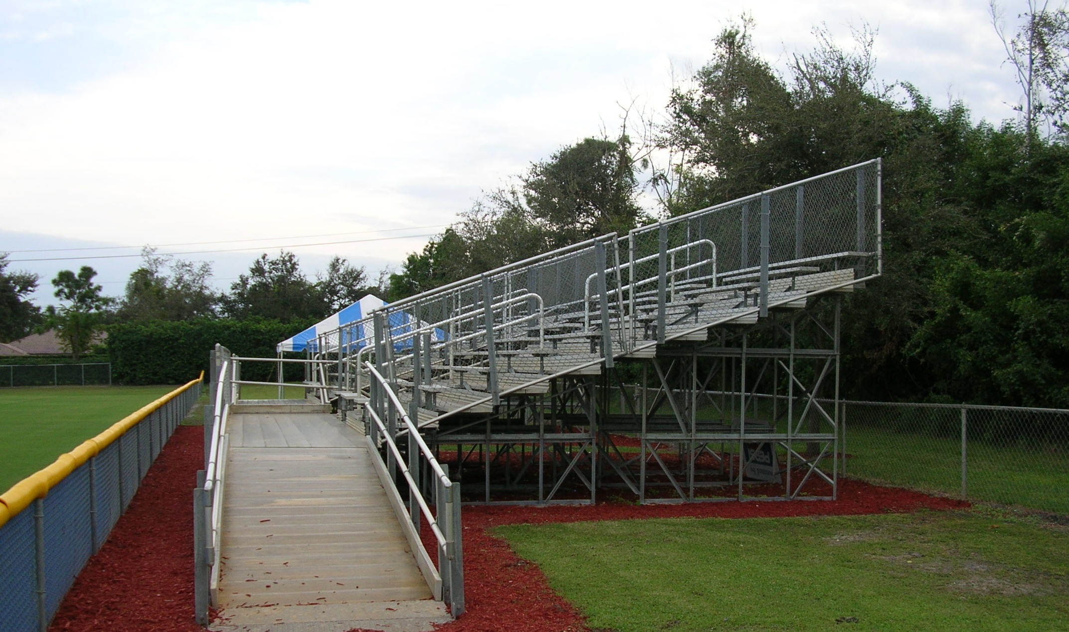 Installation of Aluminum Bleachers