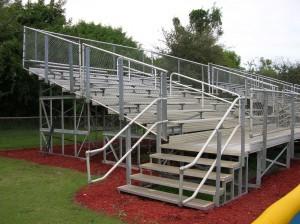 Elevated aluminum bleachers