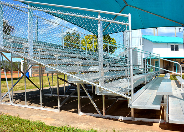 aluminum bleachers shade